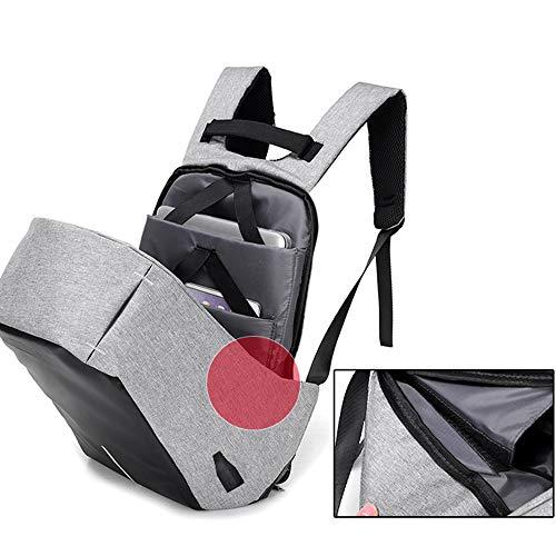 résistant pouces 6 USB ordinateur gris de Sac avec port sac à vol pour à dos anti 15 portable foncé anti Sjymkyc voyage l'eau vol d'ordinateur A d'affaires qfwAgUBxw