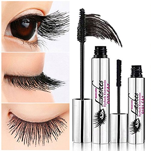 Ddk 4d Silk Fiber Lash Mascara Waterproof Black Cream Makeup Lash Eyelash Extension Crazy Long Style Warm Water Washable Mascara by Trarenvion