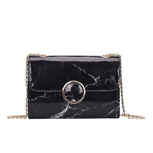 80c4789bc131 WILLTOO Womens Marble Pattern Leather Shoulder Bag Purse Satchel Tote Mini  Handbag Crossbody Messenger (Black)