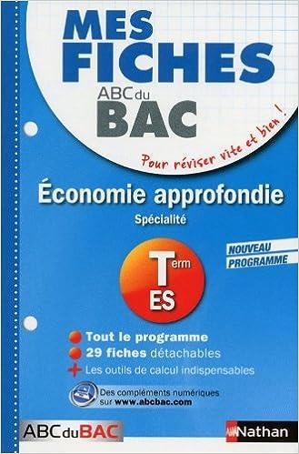 Lire MES FICHES ABC BAC ECO APPROF pdf