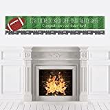 Big Dot of Happiness End Zone - Football - Baby Shower Decorations Party Banner