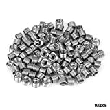 100pcs M5 Stainless Steel Wire Helical Screw Thread Inserts Repair Kit(M5*0.8 * 1.5D)
