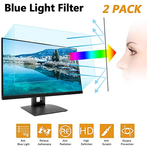 24 in Anti Blue Light Laptop Screen Protector, Anti Blue Light & Glare Filter Film Eye Protection Blue Light Blocking Screen Protector for 24