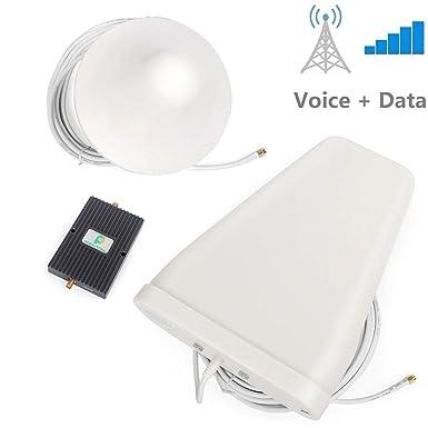 Proutone Repetidor de Señal 900MHz/1800MHz Doble-Frecuencia 65db gsm 2G 3G Amplificador de