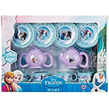 Disney Frozen Small Plastic Tea Set! Great for learning and childrens parties! Twelve piece set- 4 X Cups and saucers + Milk Jug, Teapot and lids.