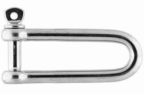 Grillete recto-largo, 12mm, acero inoxidable AISI 316 ...