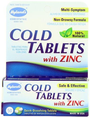 Hylands Cold Tablets Zinc Pack