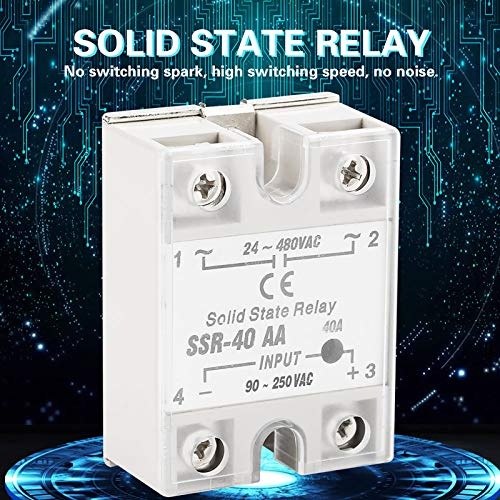 Solid State Relays Ssr-40aa Channel Relay Module 24-480V AC Plastic+Metal Light