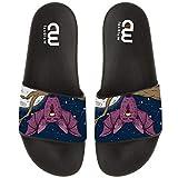 Terrific Hand Drawn Halloween Bat Summer Slide Slippers For Girl Boy Kid Non-Slip Sandal Shoes size 2