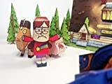 Paper Heroes Gravity Falls - Dipper, Mabel and Stan Pines with Wendy and Soos - DIY Paper Craft Kit - Paper Toys - Gravity Falls