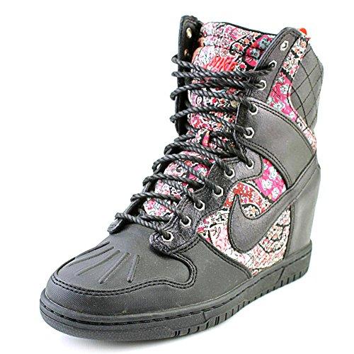 Nike Dunk Sky Hi Sneakerboot Liberty QS Womens Wedge Basketball Shoes 632180-006 Black 7.5 M US