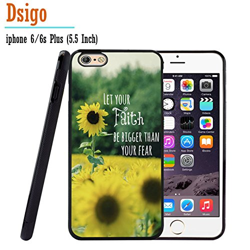 iPhone 6S Plus Case, iPhone 6 Plus Case, Dsigo TPU Black Full Cover Protective Case for New Apple iPhone 6/6S Plus 5.5 inch - Sunflower Garden