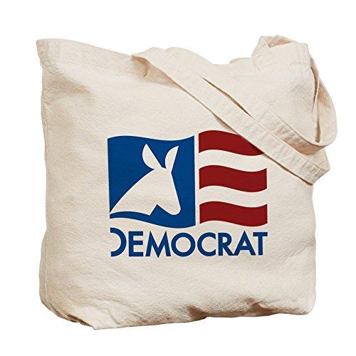 Cafepress–Democratica bandiera–Borsa di tela naturale, tessuto in iuta