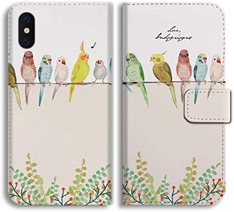 iPhone 8 スマホケース 【インコ デザイン】 アイフォン 8 ケース 手帳型ケース ブック型 手帳型 レザー 手帳カバー ダイアリー スマホケース スマートフォンケース
