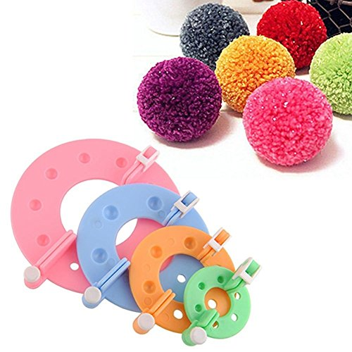 Craft Decor Pom-pom Pompom Maker Ball Weaver Needle DIY Wool Knitting Craft Tool Set by Craft Decor