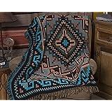 Southwestern Accent Throw 50x60 -Navajo Turquoise