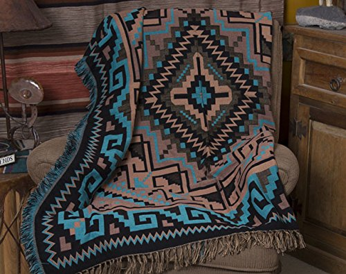 Mision Del Rey Southwestern Accent Throw 50x60 -Navajo - Southwestern Rustic Furniture