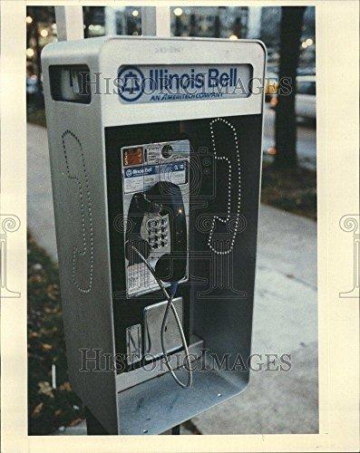 Bell Illinois (1992 Press Photo Public Telephones Illinois Bell Cost - RRV63667)