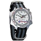 Vostok Komandirskie Fighter Pilot Mechanical Mens Commander Military Wrist Watch #531764 (black+grey)