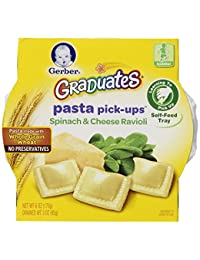 Gerber Graduates Pasta Pick-Ups Ravioli, Spinach and Cheese, 6 oz. Trays, 8 Count BOBEBE Online Baby Store From New York to Miami and Los Angeles