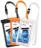 Mpow Waterproof Case, New Type PVC Cellphone Dry Bag, Universal Smartphone Pouch for iPhone 7/7 Plus, Galaxy /Google Pixel/LG/HTC (3-Pack)