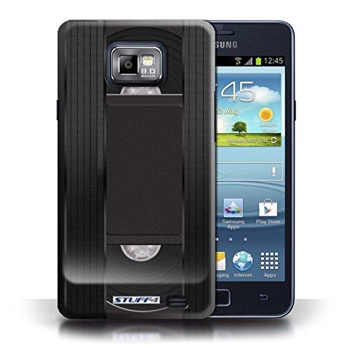 Kobalt® Imprimé Etui / Coque pour Samsung Galaxy S2/SII / Cassette Vidéo VHS conception / Série Retro Tech