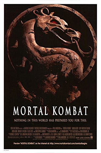Mortal Kombat Christopher Lambert Original Single Sided Rolled 27x40 Movie Poster 1996 (Mortal Kombat Movie Poster)