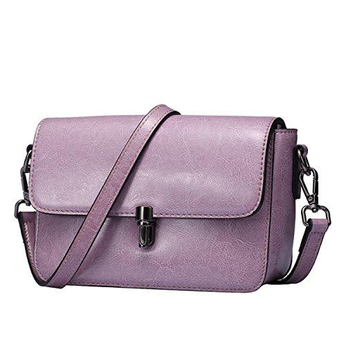 Bolso De Las Señoras Del Bolso Del Mensajero Del Hombro Purple