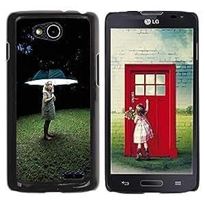 For LG OPTIMUS L90 / D415 Case , Light Girl Deep Grass Summer - Diseño Patrón Teléfono Caso Cubierta Case Bumper Duro Protección Case Cover Funda