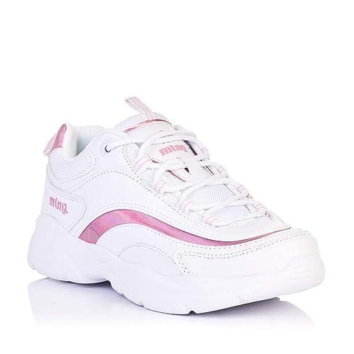 Sneakers Blancas y Rosas Mustang 69920: Amazon.es: Zapatos y complementos