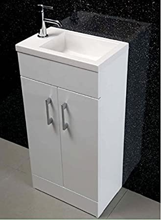 free standing sink. Highlife Bathrooms Cloakroom Freestanding White Small Compact Vanity Unit Cabinet With Basin Sink Free Standing