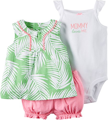 Price comparison product image Carter's_1 Girl Diaper Cover Set Green Palm Leaves,  18 Months