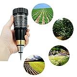 Dugoo Soil PH Meter, Handheld Portable High Precision Metal Probe Garden Plant Soil PH Meter Moisture Tester Sensor Plant Soil Moisture 1-8% PH 3-8 Tester Soil Ph Meter