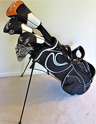 Mens Callaway Complete Golf Set Driver, Fairway Wood, Hybrid, Irons, Putter Stand Bag Reg Flex