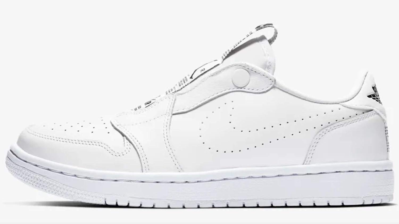 a544ba68855 Amazon.com | Nike Womens Air Jordan 1 Ret Low Slip Womens Av3918-100 Size 5  White/Black | Fashion Sneakers