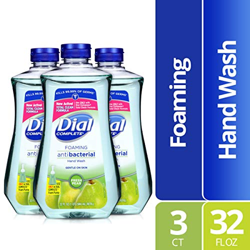Dial Complete Antibacterial Foaming Hand Soap Refill, Fresh Pear, 32 Ounce (Pack of 3)