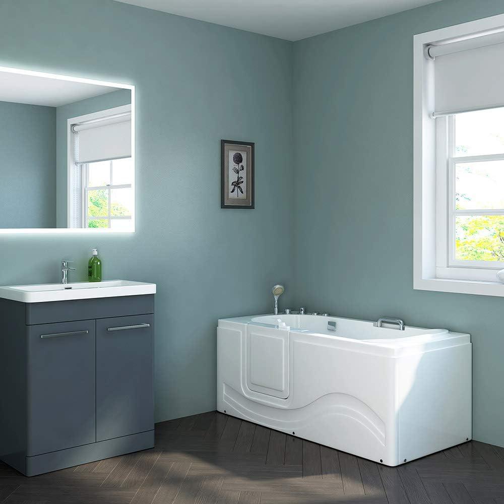 Vital M Links Home Deluxe Seniorenbadewanne Whirlpool und komplettem Zubeh/ör Ma/ße: 153 x 76 x 64cm inkl