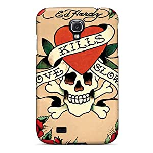 Shock-Absorbing Cell-phone Hard Cover For Samsung Galaxy S4 (Hjv13370OYMn) Allow Personal Design High Resolution Ed Hardy Skin