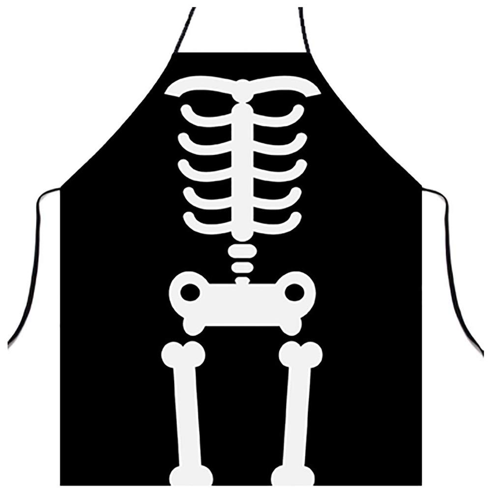 DMZY Esqueleto Creativo Cocina Delantales Personalidad ...
