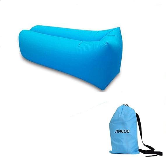 Tumbona hinchable con bolsa de transporte para piscina senderismo parque JINGOU jard/ín acampada f/ácil inflado playa patio