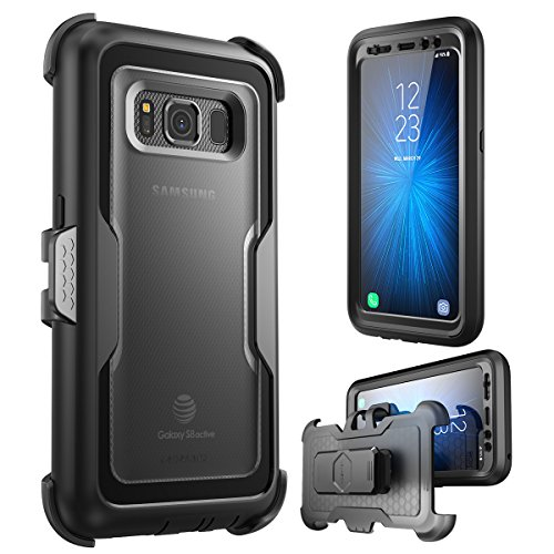 i-Blason Galaxy S8 Active Case, [Magma Series] [Full body] [Heavy Duty Protection] Shock Reduction / Bumper Case with Built-in Screen Protector for Samsung Galaxy S8 Active (Not Fit Galaxy S8/S8 Plus)