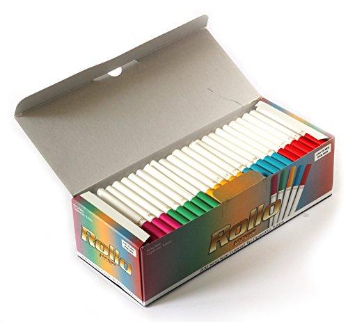 ROLLO ACCENT - Cigarette tubes with multi colored filters - 200 tubes per box Cigarette Filter Tubes