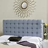 Safavieh Lamar Slate Blue Upholstered Tufted Headboard (King)