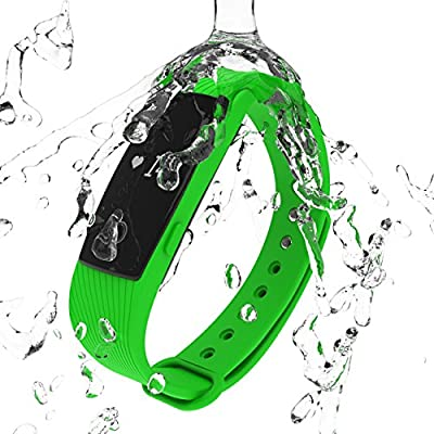 3STN Fitness Activity Tracker Bracelet with Heart Rate Monitor - Personal Armband with App, Bluetooth 4.0, Sleep Tracker, Waterproof, Pedometer, Reminder - iOS & Android - Women, Men, Kids