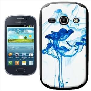 Fancy A Snuggle SHL-SAMFME-BK-7_B - Carcasa rígida para Samsung Galaxy Fame S6810, diseño de humo azul
