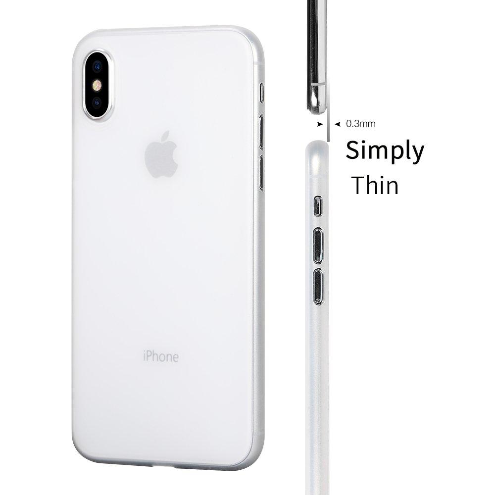 Iphone X Casememumi Ultra Thin Case For Men Anti Xr Spigen Super Light Slim 03mm Air Skin Casing Soft Clear Fingerprint Matte Material Protection Covertransparent White Cell Phones