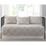 Celine Golden Ivory Printed 5 Piece Day Bed Set, Bedskirt Included
