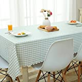 HOMEE Simple personality pvc plastic square plaid table cloth waterproof anti oil anti ironing Christmas decorations,B,135X180cm