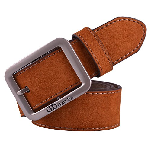 Casual Leather Belt Fashion Men's Waistband Automatic Buckle Waist Strap Belts (Brown) - New Dickies Black Belt