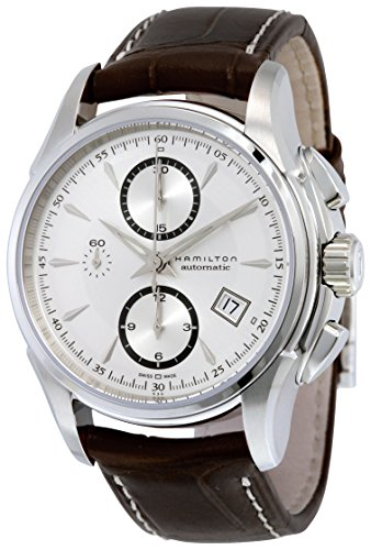 Hamilton Men's H32616553 Jazzmaster Silver-Dial Watch with Brown Band